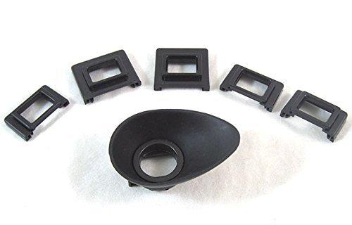 Universal EyeCup / Ocular Ven con cinco adaptadores para Canon Nikon Sony Minolta Pentax Olympus Fujifilm Sigma Contax D-SLR / SLR Camera