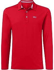 Deporte Infantil Niño y hombre Tenis/Golf/Sport Polo de manga larga, todo el año, color rojo, tamaño xxx-large