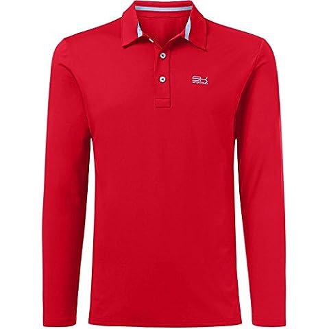 Deporte Niño Joven y hombre Tenis/Hockey/Golf Polo Manga Larga En Rojo A Partir de talla 110hasta XXL, todo el año, color Rojo - rojo, tamaño 11 años (146