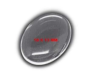 Cabochon oval en verre translucide 18 x 13 mm lot de 50 - A73