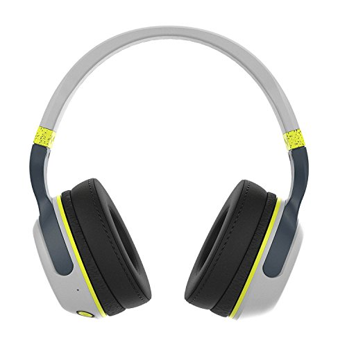 Skullcandy Hesh 2.0 Cuffie Over-Ear, Multicolore (Light Grey/Dark Grey/Hot Lime), Hesh Wired (With Microphone)