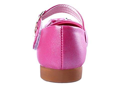 Brinny Niedlich Baby Mädchenlederschuhe Rose-Blume Princess Ballet Flach Schuhe Weicher Sohlen Mary Jane Halbschuhe Rosa