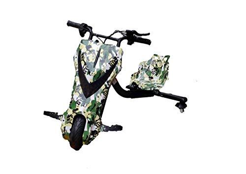 Oviboard Triciclo Derrapador Eléctrico para Niños, 3 Velocidades, Bluetooth y Luces LED (Blanco)