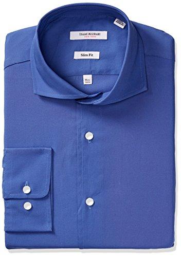 isaac-mizrahi-mens-slim-fit-solid-broadcloth-cut-away-collar-dress-shirt-royal-155-neck-32-33-sleeve