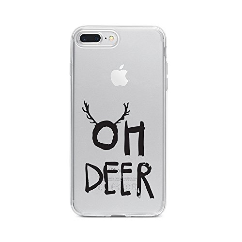licaso Handyhülle für Apple iPhone 7 Plus aus TPU mit Oh Deer Print Design Schutz Hülle Protector Soft Extra