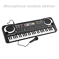 Stupoto 61 Keys Music Electronic Digital Keyboard Electric Organ Children Great Gifts with Random Microphone Musical Instrument