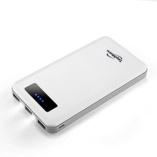 TopMate Batería Externa 20000mAh para iPhone, Samsung, iPad, LG, HTC, Kindle, Tablets...