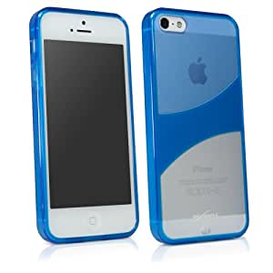BoxWave Apple iPhone 5 TrioTone Case - Slim-Fit Ultra Durable Shell Cover with Dual TPU and Hard Plastic Back Cover - Apple iPhone 5 Cases and Covers (Super Blue)