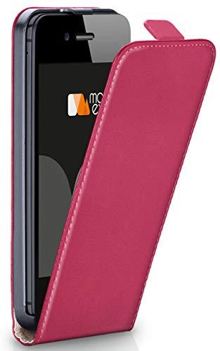 Magnetverschluss [Rundum-Schutz] passend für iPhone 5S / 5 / iPhone SE | 360° Handycover aus feinem Premium Kunst-Leder, Pink ()