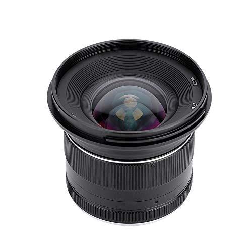 Elerose Mcoplus 12mm f2.8 Fuoco Fisso Obiettivo di Messa a Fuoco dell'apertura Manuale Grande Apertura Lente per Fotocamera Mirrorless(Sony)