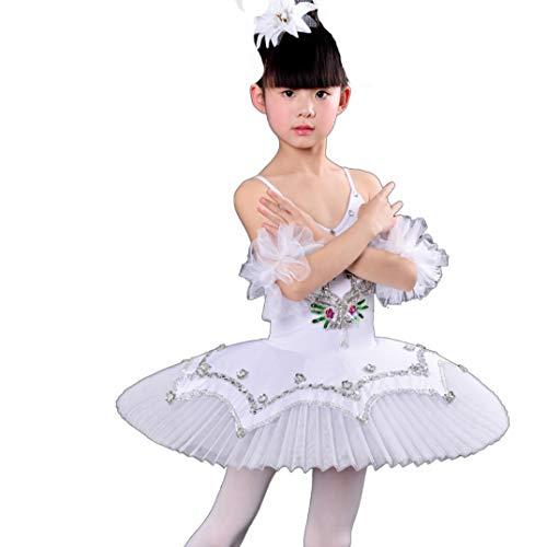 Ballet tutuWomen es Ballet Rock Kostüm Kleid Skirt Sling Ballett Little Swan Dance Kostüm Sequined Tutu,White,100CM