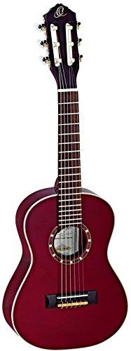 Ortega Guitars R121-1/4 Konzertgitarre (Größe: 1/4 , hochglanz Finish, Luxus Gigbag) weinrot