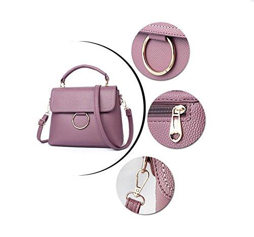 DcSpring Borse a Mano in PU Pelle Piccolo Borsa a Tracolla Borse a Spalla Elegante Moda Multifunzione Cerniera per Donna Viola