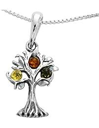 Baum des Lebens Bernsteinschmuck Lebensbaum Weltbaum Anhänger 925er Silber  Bernstein Schmuck Baum Amulett  1739 481ed02e78