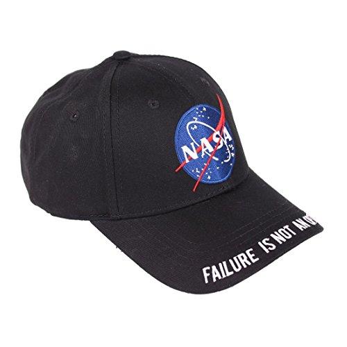 NASA Logo Baseball-Cap schwarz