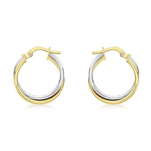 Carissima Gold Pendientes de Oro Bicolor de 9K para Mujer