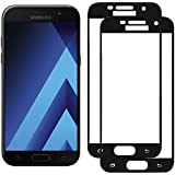 Woocika para Samsung Galaxy A5 2017 Cristal Templado [2-Unidades], Protector Pantalla para Samsung A5 2017- Alta Definicion sin Burbujas 9H Dureza Anti-Golpe Ajuste - Negro