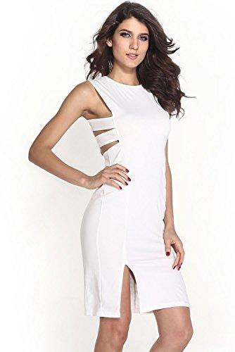 Dissa® femme Blanc SY6326 robe de cocktail Blanc