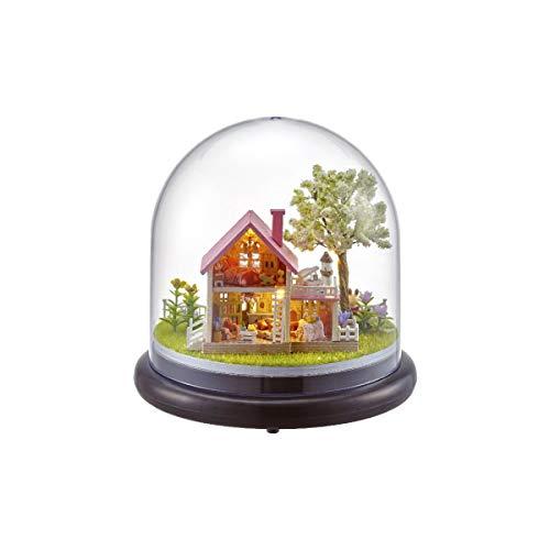 (Bluelover DIY Music Box Puppenhaus Puppenhaus Handgefertigte Miniatur Kinder Kits Spielzeug Geschenk - 3)