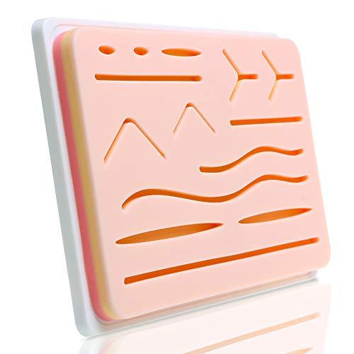 Übungsnahset Hautnaht Trainer Nahtauflage Training Set Künstliche Haut medizinisches Training (Set 1, Hautfarbe) -