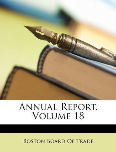 Annual Report, Volume 18