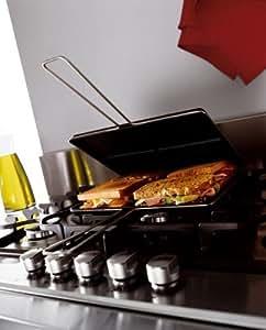Wpro AMC960 Support+Pierre + Gril + Planche à Découper + Toaster pour Table de Cuisson Whirlpool AKT616/617/676/677/653/773/759/717