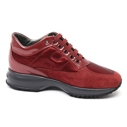 B4724 sneaker donna HOGAN INTERACTIVE scarpa bordeaux shoe woman Bordeaux