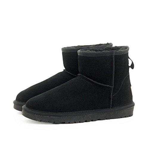 Hiver neige bottes femmes tube/ chaussures chauds épais/ split daim chaussures A