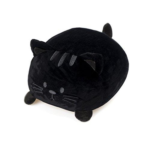 Balvi Cojín Kitty Color negro Forma de gato Suave y muy blando PoliésterMUY SUAVE. Su textura es muy suave y agradable al tacto.MUY BLANDO. Se adapta perfectamente a tu espalda y está fabricado con un 5% de spandex que le permite volver a su forma or...