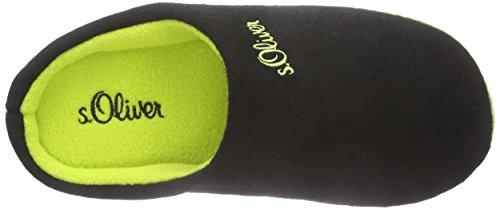 s.Oliver 47100 Unisex-Kinder Pantoffeln Schwarz (Black 001)