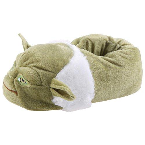 s Meister Yoda Hausschuhe Pantoffel Schlappen Kuscheltier Plüsch Puschen Grün 29-47, TH-Yoda, Größe 43/45 ()