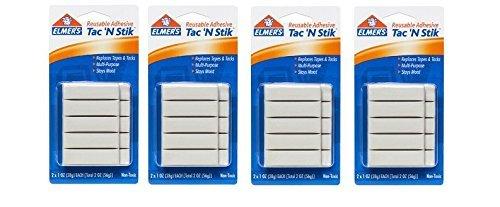 Elmers Sticky (Elmer 's Produkte 986201Oz TAC 'n Stik wiederverwendbar selbstklebend, weiß 4-Pack)