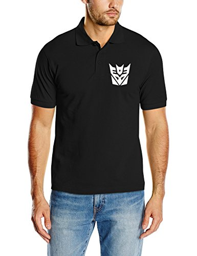 Touchlines - Transformers - Decepticon, T-Shirt uomo, Nero (black), M