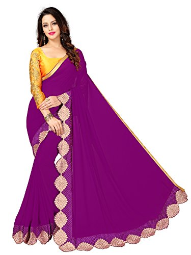Glory Sarees Georgette Saree (Sukanya Wine_Wine)