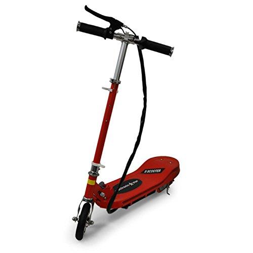 Electronic-Star V6 Patinete eléctrico (100 W, 16 km/h, 2 Frenos, Plegable, Potente batería, Carga rápida, Motor silencioso, Manillar Ajustable, Estribo Antideslizante) - Rojo