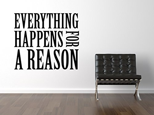 Everything Happens For A Reason Wandtattoo Black Certified Freak