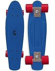 RAM - Monopatín minicruiser (56 cm), diseño Old School, color azul