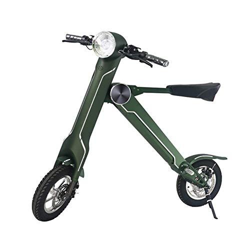 NAMENLOS 12 Zoll faltendes elektrisches Motorrad mit Bluetooth-Lautsprecher, leichtes Rad-elektrisches Fahrrad, elektrischer Roller mit Seat-Aluminiumlegierungsbalance-Auto,Green