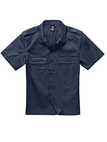 Brandit US Hemd 1/2 Arm Hemd schwarz Navy