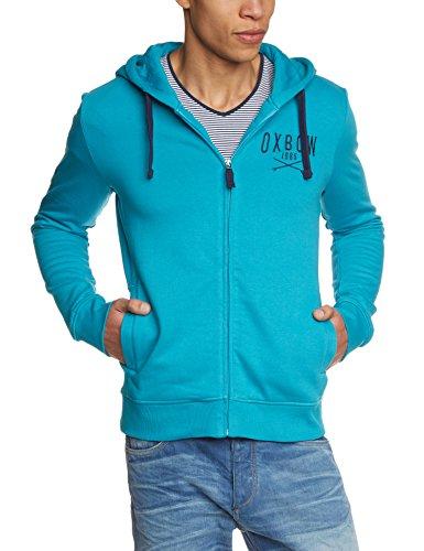 Oxbow, Felpa con cappuccio Uomo, Blu (Bleu Azur), S