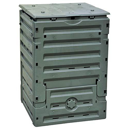 compostiera da giardino 300l 60x60xh90cm rama eco-master verde