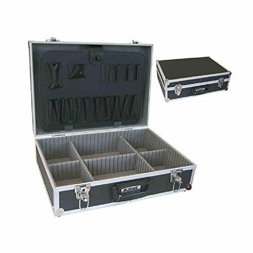 Alu Werkzeugkoffer schwarz 460 x 330 x 150 mm, abschließbar