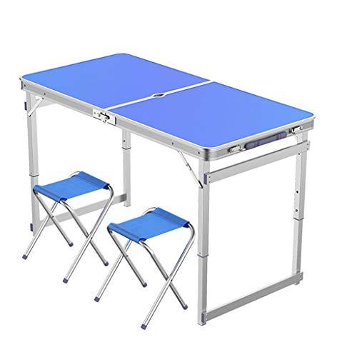 34d42404725b2 4FT Portable Rectangle Table Pliante avec Poignée Et Trou Parapluie pour  Intérieur Et Extérieur Garden Party