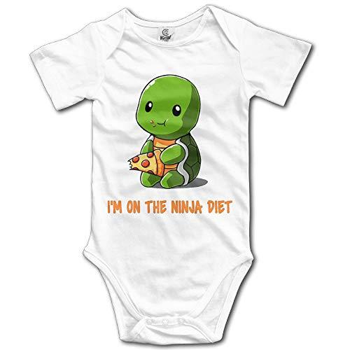 Huahai Unisex Turtles I'm on The Ninja Diet Baby Rompers Baby Onesie Short Slev