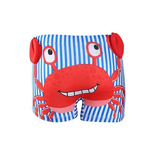 IPBEN Baby Junge Schwimmen Shorts Kleine Jungen Badehose Schwimmen Boxer für Kinder 3D Cartoon Krabben Dinosaurier Gedruckt ()