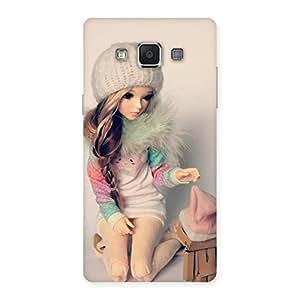 Enticing Cute Winter Doll Multicolor Back Case Cover for Samsung Galaxy A5