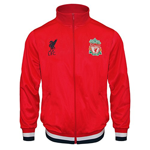 FC Liverpool Jungs Retro-Trainingsjacke - Fußballgeschenk - 100{0733c6d65aa1984ca11d655ff7326548bd2d6567aa6b5716f22ef2218c254c58} Polyester - Rot - 10-11 Jahre Large Boy