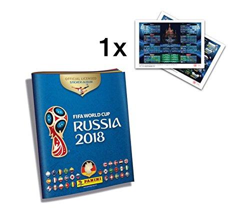 che Ausgabe Album Panini Sticker WM Russland FIFA Fussball Weltmeisterschaft Russland 2018 Sammelset, + 1x Spielplan / Übersicht Stadien DIN A3 (Fifa Wm Sticker Album)