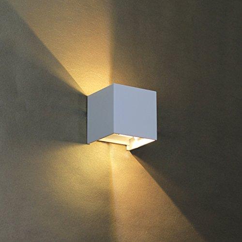 baytter 6w warmwei wasserdichte ip65 led wandleuchte. Black Bedroom Furniture Sets. Home Design Ideas