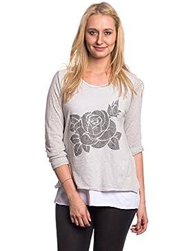 [Patrocinado]Abbino Camisas Blusas Tops Para Mujeres - Hecho EN Italia - 6 Colores - Entretiempo Primavera Verano Otoño Mujeres...